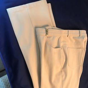 St John 5 pocket classic jean pant cream size 4